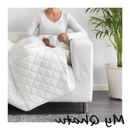 IKEA PS 2017 Travel Throw Blanket Quilted White Quilted Flee