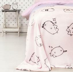 Pusheen The Cat Fleece Blanket Throw Pink Sweets Design Supe