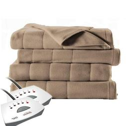 Sunbeam QUEEN Size Electric Heated Fleece Blanket with two R