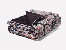 Vera Bradley Quilted Fleece Blanket In Parisian Paisley NWT