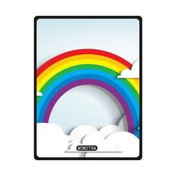 ARTSWOW Rainbow And Clouds Custom Fleece Throw Blanket Indoo
