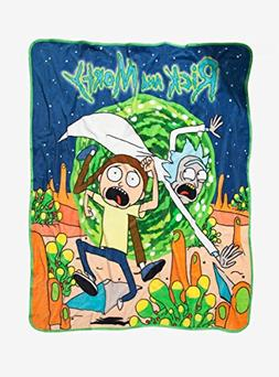 Hot Topic Rick And Morty Run Plush Throw Blanket