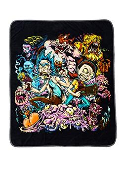 Hot Topic Rick And Morty Surreal Adventure Throw Blanket