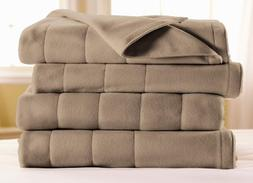 Sunbeam Royal Dreams Twin Heated Blanket, Mushroom