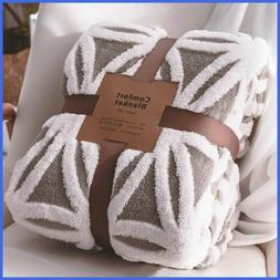 Sherpa Fleece Blanket Fuzzy Soft Bed Dual Sided Throw Fit Co
