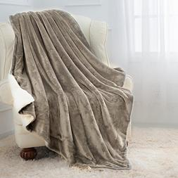 Moonen Sherpa Throw Blanket Luxurious Twin Size Brush Fabric