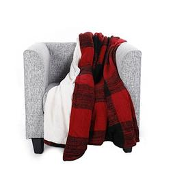 Battilo Sherpa Throw Blanket Luxury 50x60 Inches Reversible