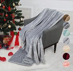 Catalonia Sherpa Throw Blanket Reversible Match Color Super