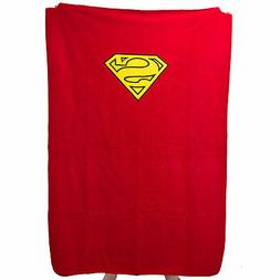Superman Shield Logo Cape Fleece Blanket Super Soft Warm Com