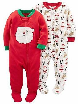Simple Joys by Carter's Baby 2-Pack Holiday Loose Fit Flame