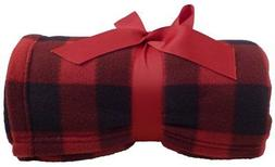Simplicity Super Soft Warm Plaid Patterned Polar Fleece Blan