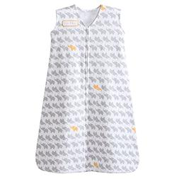 HALO SleepSack 100% Cotton Wearable Blanket, Gray Elephant G
