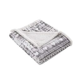 snowflakes print sherpa throw blanket
