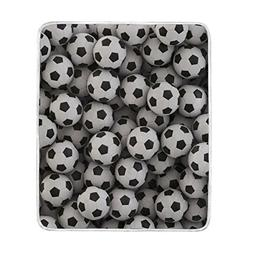ALAZA Soccer Ball Football Plush Throws Siesta Camping Trave