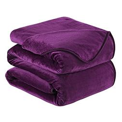 HOZY Soft Blanket Queen Size Fleece Warm Fuzzy Throw Blanket