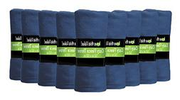 "12 Pack Wholesale Soft Comfy Fleece Blankets - 60"" x 50"" Coz"