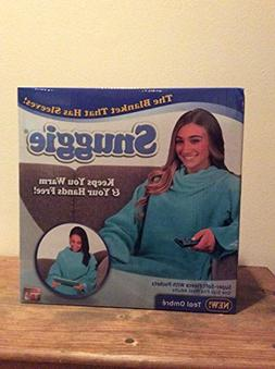 Snuggie Soft Fleece Blanket with Sleeves and Pockets, Solid