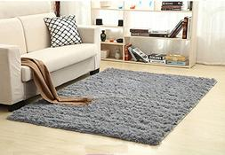 Mrs.W Soft Indoor Modern Area Rugs Fluffy Living Room Carpet