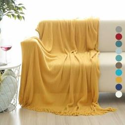 ALPHA HOME Soft Throw Blanket Warm&Cozy for Couch Sofa Bed B