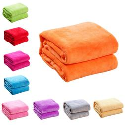 Warm Thick Plush Fluffy Fleece Wool Soild Color Micro Throw