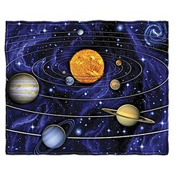 Dawhud Direct Solar System Fleece Throw Blanket