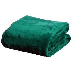 """PH Beautiful Solid Emerald 60"""" x 50"""" Bright Color Cuddle Up"""