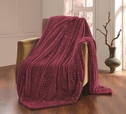 solid plush throw blanket