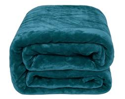 solid turquoise flannel throw plush cozy super