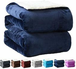 SONORO KATE Fleece Sherpa Blanket Fuzzy Super Soft Bed Throw