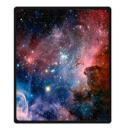 Space Throw Blanket by Goodbath, Galaxy Universe Star Patter