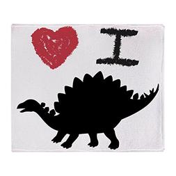 Stadium Throw Blanket I Love Dinosaurs - Stegosaurus