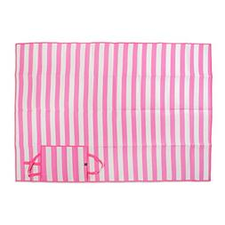 "Extra Large Stripe Beach Picnic Mat, 60x78"" Portable with Ca"