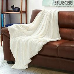 Bedsure Super Soft Faux Fur Blanket Warm PV Fleece Blankets