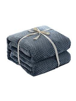 Annlaite Super Soft Flannel Fleece Blanket - Lightweight Fle