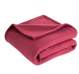 Super Soft Fleece Blanket in Burgundy - Queen