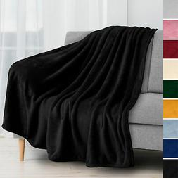 Super Soft Fleece Throw Blanket for Couch Sofa Bed Chair Lig