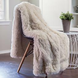 Chanasya Super Soft Shaggy Longfur Throw Blanket | Snuggly F