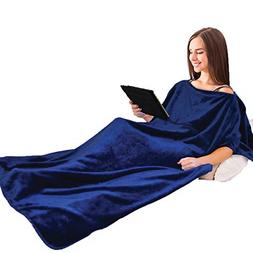 Napa Super Soft Micro Fleece TV Blanket Poncho Style, Lightw