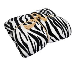 Napa Super Soft Plush Bed Blanket Zebra Queen Size All Seaso