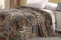 Super Soft Polyester Microplush African Safari Animal Skin P