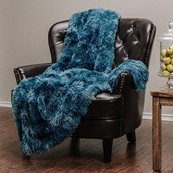 Chanasya Faux Fur Sherpa Throw Blanket | Color Variation Mar