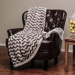 Chanasya Super Soft Ultra Plush Cozy Fluffy Warm Chevron Pri