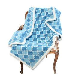"Napa Super Soft Ultra Plush Throw Blanket Light Blue 50"" x 7"