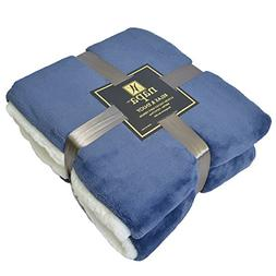 "Napa Super Soft Velvet Plush Throw Blanket 50""x 70"", Rev"