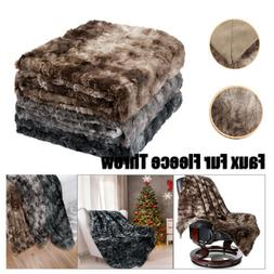 Super Soft Warm Breathable Faux Fur Plush Fleece Blanket Thr