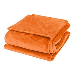 uxcell Super Soft Warm Rug Luxury plush Fleece Throw Blanket