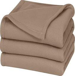 Utopia Bedding Tan King Size Polar-Fleece Extra Soft Thermal
