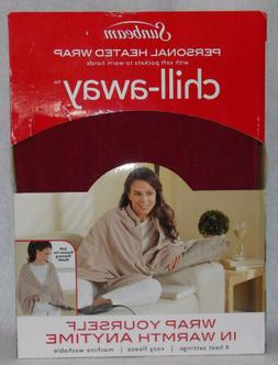 Sunbeam TCFQR-310-00 Fleece Chill-Away Electric Heated Wrap,
