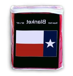 "Texas State Flag Fleece Blanket *NEW* 50""x60"" Texan Longhorn"