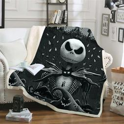 The Nightmare Before Christmas Jack Skull Sherpa <font><b>Bl